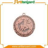 Médaille de cuivre en alliage de zinc personnalisée en métal