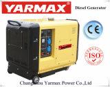 Una Sola Fase Yarmax Generador Diesel 6 kw en silencio grupo electrógeno diesel generador de ISO9001 CE
