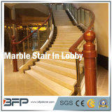 Escalera de mármol de piedra popular/pasos de progresión/Step&Riser para la decoración del pasillo/del chalet/del hotel
