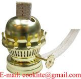 Messing-Überzogener Öl-oder Kerosin-Lampen-Brenner mit flacher Ölerfilz-und Kleber-unten Muffe