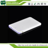 Banco móvel 2200mAh com CE, RoHS da potência do cartão de crédito, FCC