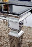 Tavolino da salotto cinese moderno di vetro dell'acciaio inossidabile della mobilia