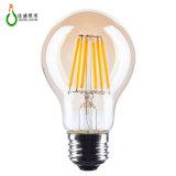 Um LED de 6 W60 Luz de incandescência AC85-265V Marcação RoHS certificação UL LED da lâmpada de filamento de LED