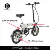Diseño italiano 2017 bici plegable/portable de 14 pulgadas de batería eléctrica de la potencia