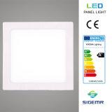 최고 얇은 중단된 사각 6W 12W 18W 24W LED 위원회