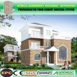 El edificio prefabricado ligero de la pared de emparedado del cemento/prefabricó la casa modular