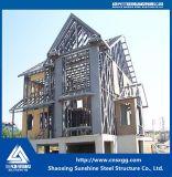 Prefabric Estructura de acero de la luz de la construcción de casa con haz de soldadura
