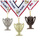 金張りのDairtelの上昇の星の金属メダルをカスタマイズしなさい