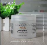 choc en plastique de l'animal familier 150ml pour la crème cosmétique (surface givrée)