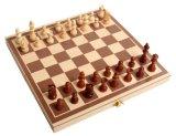 Insieme di scacchi di legno di alta qualità dei giochi esterni con la scacchiera di legno
