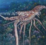 Pitture a olio Handmade dell'aragosta per la decorazione domestica