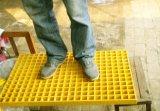 Grille moulée par FRP antidérapage et de la corrosion de résistance pour la lave-auto