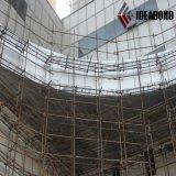 Panneau composé de zinc titanique d'Ideabond pour la décoration de mur rideau