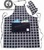 卸し売り新しいカスタマイズされた100%Cottonによって点検される印刷の台所エプロン