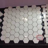 Impiallacciatura popolare del mosaico del marmo di esagono dell'oro di Calacatta