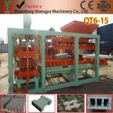 Machine van het Blok van de Technologie Qt6-15A van Duitsland de volledig Automatische Hydraulische Stevige Concrete Holle in Afrika
