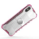 Couverture protectrice de butoir de cas de téléphone mobile avec à plaque magnétique pour la note 8 de Samsung
