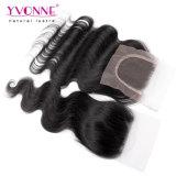 Chiusura non trattata all'ingrosso della parte superiore del merletto dei capelli umani