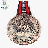 ダイカストの記念品のための旧式な青銅色のカスタムエナメルの柔道のトロフィメダルを