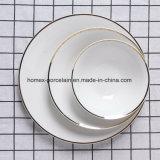 Nouveau style de jeu de la vaisselle en porcelaine pour restaurant