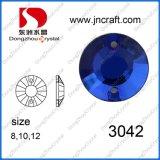 Color azul de cristal posterior plana Rhinestones (DZ-3042)