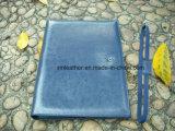 Carpeta de archivos de Conferencia de cuero vendedora caliente A4 Compendio de la PU con la tarjeta del bolsillo