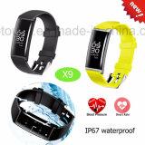 IP67 waterdichte Slimme Armband met het Tarief van de Zuurstof van het Bloed &Heart X9