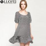 El verano cuello redondo manga especial elegante vestido de mujer