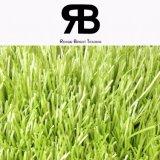 grama artificial do futebol da simulação de 40mm, relvado sintético, grama falsificada do campo
