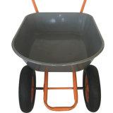Riga della barra di rotella e carriola con le doppie rotelle pneumatiche