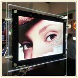 Janela de exibição A3 de dupla face pendurado caixa de luz de cristal