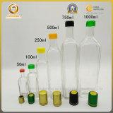 Première couleur élevée d'espace libre de bouteille d'huile d'olive du blanc 250ml (1101)