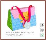Het Winkelen van het Document van Kraftpapier van de douane de Druk Afgedrukte Verpakkende Zakken van het Document van de Gift van de Carrier voor Verpakking met Handvatten