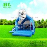 Mietze im Aufladungs-federnd Schloss, das Haus-aufblasbares kombiniertes für Kinder springt