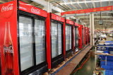 セリウム、高品質のCBが付いている新式の直立した両開きドアの飲料の表示クーラー