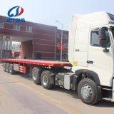 China-Fertigung 3 flaches Bett-Behälter-halb Schlussteile der Wellen-40FT