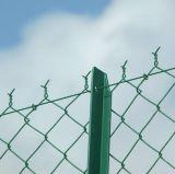 Гальванизированная загородка звена цепи (ячеистая сеть), PVC диаманта покрыла загородку звена цепи