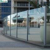 Aluminium van uitstekende kwaliteit 6063 T5 de Omheining van de Balustrade met Aangemaakt Glas