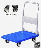 trole Foldable econômico azul do caminhão de mão da plataforma 150kg