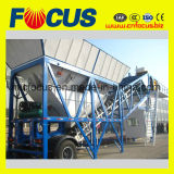 Planta de mistura concreta móvel automática, planta 50~60m3/H de tratamento por lotes concreta móvel