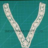 Белый спицы принадлежности одежды хлопчатобумажной ткани лента вышивка кружева втулку
