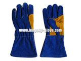 Gant de la meilleure qualité de travail de soudure de cuir fendu--6512