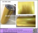Feuille en plastique mince colorée de PVC, feuille rigide colorée de laminage de PVC pour l'enveloppe de tambour