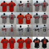 Ha personalizzato tutto il nome qualunque no. Qualsiasi pullover di baseball del Jones degli Orioles di Baltimora di marchio della squadra