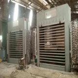 Holzbearbeitung, die heiße Presse-Maschine für Spanplatten-Produktionszweig aufbereitet
