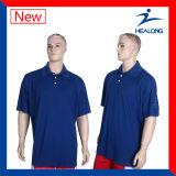 Chemises de polo pures de couleur de vitesse d'habillement de qualité de Healong pour les hommes