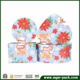 Rectángulo de regalo caliente del papel del almacenaje de la Navidad de la venta