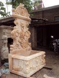 Fontana di parete di marmo della scultura del leone (FNT070)