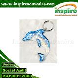 Настраиваемые дельфина акриловый цепочки ключей на сувениры