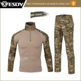 戦術的で堅い屋外スポーツの均一カムフラージュのスーツの軍服